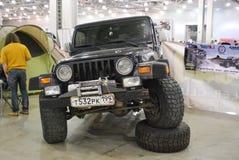 O carro de Jeep Wrangler II na expo 2012 do açafrão Foto de Stock Royalty Free
