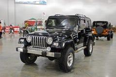 O carro de Jeep Wrangler II na expo 2012 do açafrão Fotografia de Stock Royalty Free