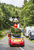 O carro de Mickey durante o Tour de France 2014 do Le Foto de Stock
