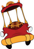 O carro do vermelho do brinquedo. Desenhos animados Imagens de Stock