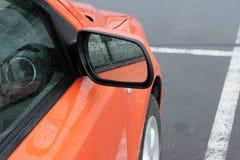 O carro em um estacionamento Imagens de Stock