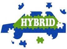 O carro híbrido significa o automóvel Eco-amigável elétrico Fotos de Stock Royalty Free