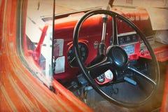 O carro interno do vintage faz o olhar da imagem velho imagem de stock