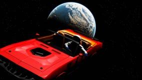 O carro no espaço Fotos de Stock