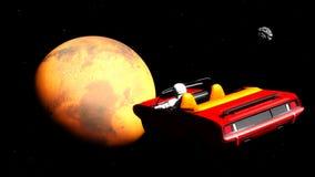O carro no espaço Fotografia de Stock Royalty Free