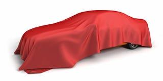 O carro novo cobriu a tela ilustração royalty free