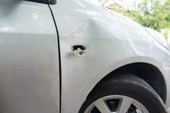O carro obtém danificado acidentalmente Foto de Stock Royalty Free