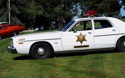 O carro-patrulha de Sherriff clássico restaurado Fotos de Stock Royalty Free