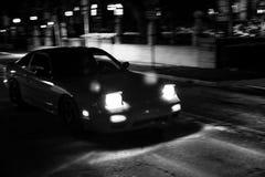 O carro preto Fotografia de Stock