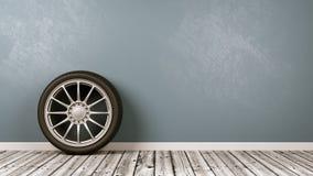 O carro roda dentro a sala Imagem de Stock Royalty Free
