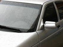 O carro sob uma chuva Fotos de Stock Royalty Free