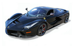 O carro super exótico, LaFerrari- isolou-se foto de stock
