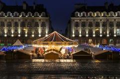 O carrossel de Rennes no meio do lugar du Parlement-De-Bretagne Imagem de Stock Royalty Free