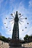 O carrossel o mais alto e o maior do balanço do voo no mundo em Prater, Viena Imagens de Stock