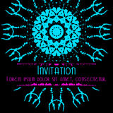 O cartão assustador do convite com manchas e chapinha Imagem de Stock