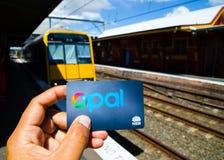 O cartão da opala é um sistema ticketing da carta inteligente sem contato para serviços de transporte público na área maior de Sy fotos de stock royalty free