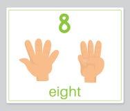 O cartão 8 da palavra ilustração stock