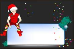 O cartão de ano novo Fotografia de Stock