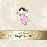 O cartão de ano novo Fotografia de Stock Royalty Free