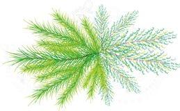 O cartão de ano novo de uma pele-árvore ilustração do vetor