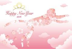 O cartão de ano novo, mascote, tela Fotos de Stock Royalty Free