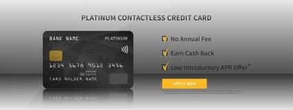 O cartão de crédito caracteriza a ilustração do vetor Foto de Stock