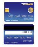 O cartão de crédito na onda alinha para trás Fotografia de Stock Royalty Free