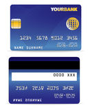 O cartão de crédito na onda alinha para trás Imagem de Stock Royalty Free