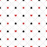 O cartão de jogo sere o fundo sem emenda do teste padrão dos sinais Fotos de Stock