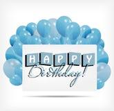 O cartão de presente com balões vector a ilustração Foto de Stock