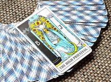 O cartão de tarô alto subconsciente, Alto-auto da sacerdotisa Fotografia de Stock Royalty Free