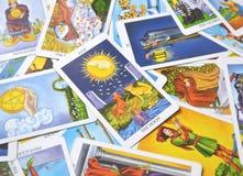 O cartão de tarô da lua sonha, pesadelo, ilusão, coisas escondidas ilustração stock