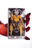 O cartão de tarot do diabo. imagens de stock