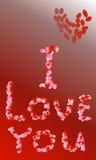 O cartão decorado com pétala cor-de-rosa Foto de Stock Royalty Free