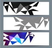 O cartão 2016 do ano novo feliz estilizou o modelo poligonal do triângulo Fotografia de Stock