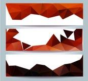 O cartão 2016 do ano novo feliz estilizou o modelo poligonal do triângulo Imagens de Stock