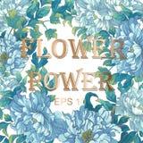 O cartão do azul asiático floresce peônias Foto de Stock Royalty Free