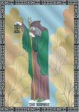 O cartão do eremita ilustração royalty free