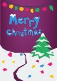 'O cartão do Feliz Natal ilustração do vetor