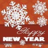 O cartão do feriado com flocos de neve e diz imagens de stock royalty free