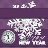 O cartão do feriado com flocos de neve e diz fotografia de stock royalty free