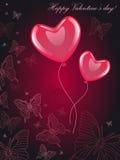 O cartão do Valentim Foto de Stock