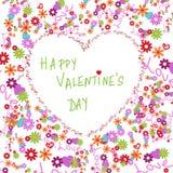 O cartão do Valentim Imagens de Stock