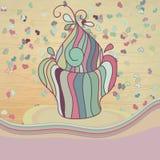 O cartão do Valentim com queque. + EPS8 Foto de Stock Royalty Free