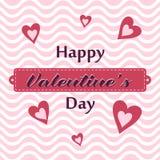 O cartão do Valentim feliz Imagem de Stock