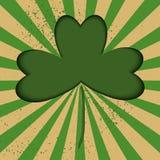 O cartão do vetor do dia do ` s de St Patrick no papel cortou a técnica ilustração stock