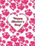 O cartão feliz do dia de mãe com sakura cor-de-rosa floresce Foto de Stock Royalty Free
