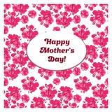 O cartão feliz do dia de mãe com sakura cor-de-rosa floresce Fotografia de Stock Royalty Free
