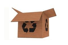 O cartão isolado com recicl o símbolo ilustração stock
