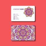 O cartão ou o convite da coleção decoraram a mandala Fotos de Stock Royalty Free
